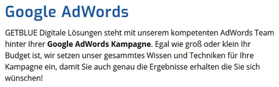 Google AdWords aus  Hoßkirch